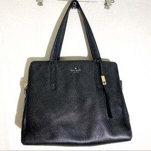 Kate Spade Large Black Double Zipper Tote